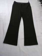 "size  10           BROWN  TAILORED  wide  leg WARMER  TROUSERS          32"" leg"