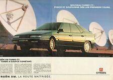 Publicité Advertising 1990  (double page)  CITROEN XM TURBO CT
