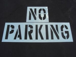 "18"" NO PARKING Stencil, Parking Lot Stencils 1/16"", 60 Mil, Pavement Marking"