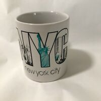 New York City Coffee Mug Cup 10 Oz Twin Towers Statue Of Liberty