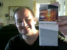 LADIES THERMAL SOCKS UK 4-7  PERFECT BIRTHDAY GIFT  FREE UK POST FUN & EXERCISE