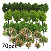 Train Garden Park Diorama Layout 70X Mixed Model Trees HO Z TT Scale Trees New