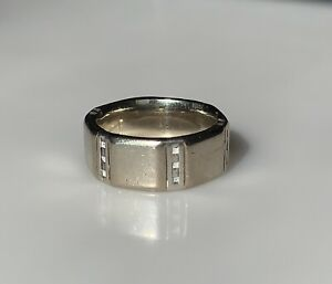 Men's 14k White Gold Ring Size 12