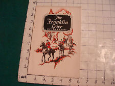 vintage The Franklin CRIER: Oct. 1927, for the direct ADVERTISING market--scarce
