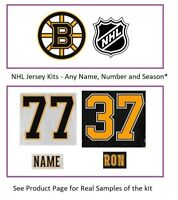 NHL Boston Bruins Lettering Custom Jersey Kit ANY YEAR Name Number UNSEWN
