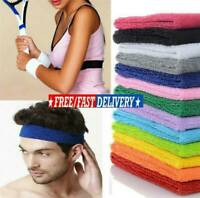 2Pcs Sports Wristbands Unisex 80s Fitness Sports Wrist Sweat Bands Gym Tennis AU