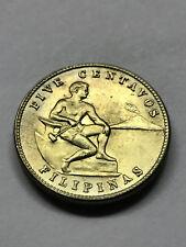 1944-S Philippines 5 Centavos AU+ #11611