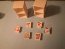 SYLVANIAN FAMILIES ST.FRANCIS SHCOOL BOOK CASES/BOOKS (2001)