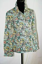 Sessun Womens S Shirt  floral print  long sleeve  black/pink/aqua/teal/white