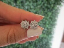 .60 CTW Diamond Earrings 18k White Gold Ex102 sep
