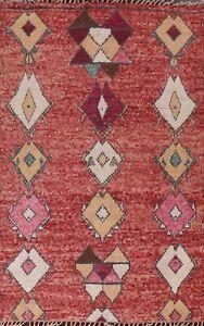 Tribal Geometric Moroccan Berber Oriental Area Rug Hand-knotted Plush Wool 6x10
