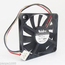 10x NIDEC D06X-12TL 60x60x10mm 6010 DC12V 0.10A 3pin Connector DC Cooling fan UK