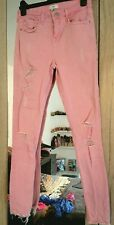 River Island Baby Pink Womens Skinny Jeans Size 10 Was £45 Worn Once !