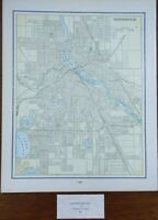 "Vintage 1900 MINNEAPOLIS MINNESOTA Map 11""x14"" ~ Old Antique MINNEHAHA FALLS"