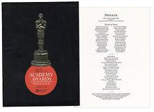 43rd Academy Awards Presentation Program