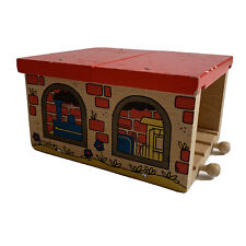Wooden Red Brick Two Way Tunnel Train Set Brio Thomas the Tank Engine Compatible