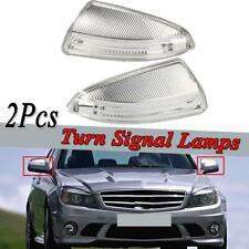 For Mercedes Benz W204 C-Class 2007-2011 LH+RH Mirror Indicator Lamp Light Pair