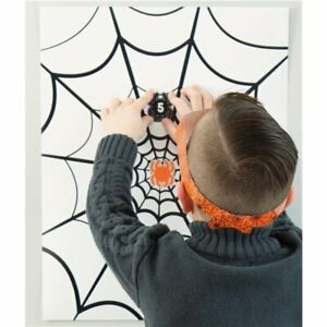 Pin the Spider on the Web Party Game - Halloween