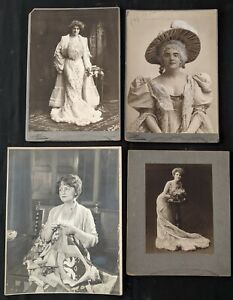 1900-20s Broadway Ladies of the Theatre Oversized Mounted Photo Lot (17 pc) BB
