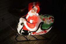 Vintage Empire Santa sleigh blow mold