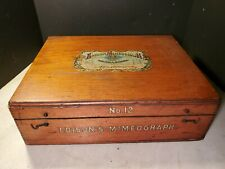 Patent 1896 Edison Mimeograph No. 12 Finger Jointed Case w Many Items Inside
