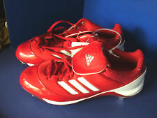 ADIDAS~Red & White AS SMU EXCEL 365 EX Metal BASEBALL CLEATS~Mens 13~Shoes~NWT