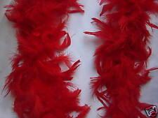 6 Rosso Boa Di Piume Vestito Costume Addio Al Nubilato Nuova
