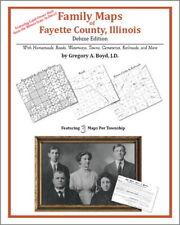 Family Maps Fayette County Illinois Genealogy IL Plat