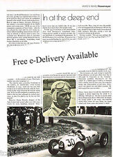 Old BERND ROSEMEYER F1 Formula One GP Article/Picture/Photo: AUTO UNION