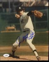 Jim Catfish Hunter Signed Jsa 8x10 Photo Autograph