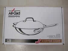New In Box All Clad Stainless Steel Copper Core 12 Inch Chef's Pan Domed Lid