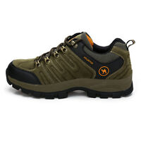 Mens Walking Hiking Trail Waterproof Ventilated Suede Shoes size 7 9 9.5 7.5 8.5