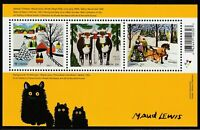 Canada NEW 2020 Holiday Maud Lewis Paintings Christmas Souvenir Sheet MNH
