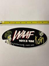 Korn WAAF sticker promo Rare