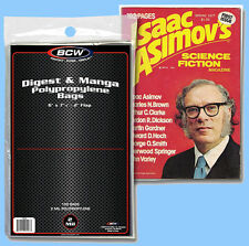 BCW: Comic Bags: DIGEST/MANGA Size: 100ct (1 pack) 2-mil Poly *FREE SHIP in USA