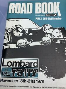 1979 LOMBARD RAC RALLY ROAD BOOK PART 2 EX JIM PORTER COLLECTION