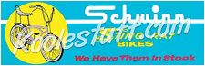 Schwinn Bicycle Sting-ray Window Banner / Poster - SCHWINN APPROVED