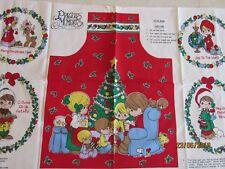 OOP PRECIOUS MOMENTS Child's apron/ornament/applique CUT SEW Fabric Panel