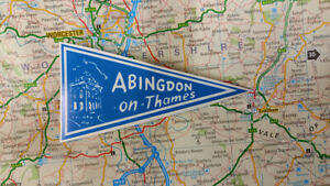1960's Style  Abingdon Upon Thames Holiday Pennant  Classic Car Window Sticker