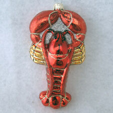 Lobster Christmas Ornament Orange Gold Glass Macys Holiday Lane New with Tags
