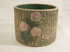 Vintage Red Wing Pottery Stoneware Brush Ware Stump Flowers Tree Trunk Planter