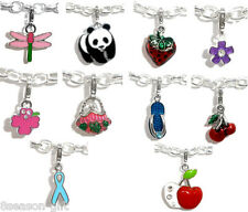 50 PCs Mixed Clip On Enamel Charms. Fits Link Chain Bracelet