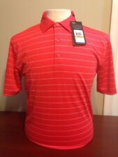 Nwt Callaway Mens Small Core Ventilated Bittersweet Stripe Golf shirt club logo