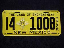 NEW MEXICO ★ LAND OF ENCHANTMENT ★ 1947 ★ USA Auto Kennzeichen ★ Original!141008