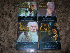 4 SEALED Lord of the Rings STARTER DECK SHADOWS Trading Card Game Legolas Eowyn