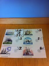 British Maritime Heritage Fdc 6 First Day Covers 1982 Fleetwood~F1-L63 *