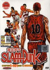 Slam Dunk DVD Anime Boxset Ch. 1-101 +3Movies Can/Jap Audio w/Eng Sub - ShipFAST