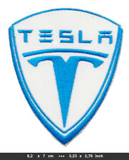 TESLA Aufnäher Patches Bügelbild Automobile Elektromobile Elektrofahrzeuge USA