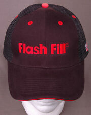 Flash Fill Hat-Mesh-Snapback-Trucker Cap-Black Red-Embroidered USA Flag-New
