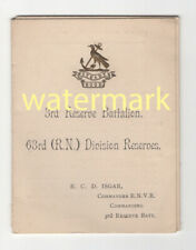 More details for royal naval division, hood battalion, folding history card, 1917